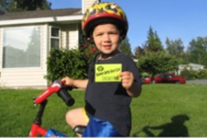 Child with a Summer Safety Smart Card