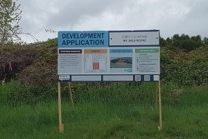 FH No4 - Development Sign south side WEB