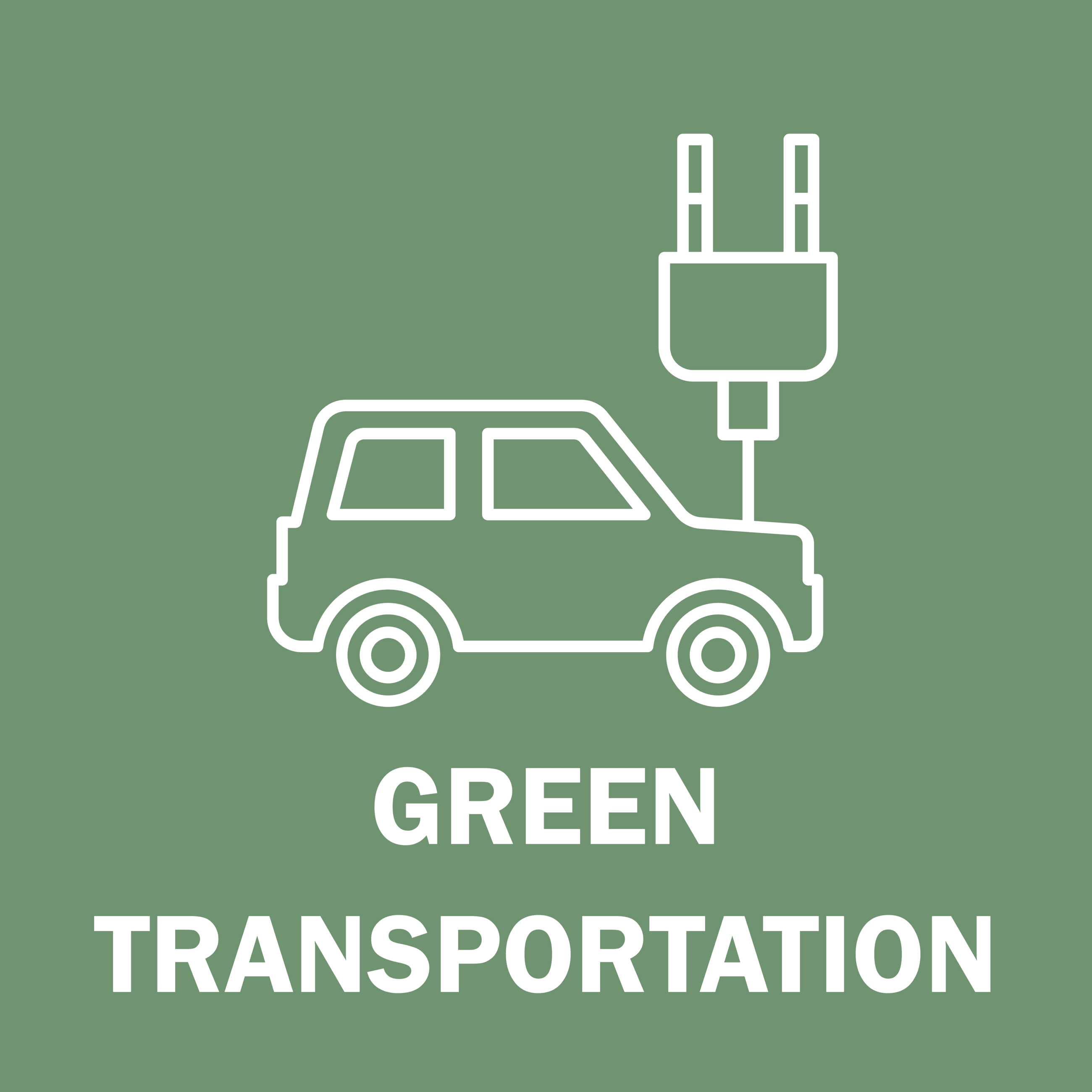 Green Transportation Button