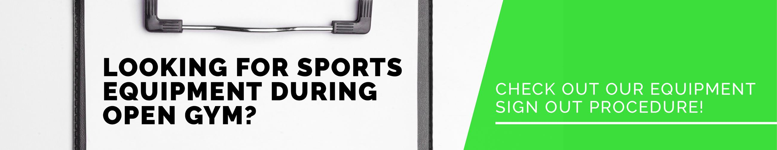 Gym Equipment Policy Banner