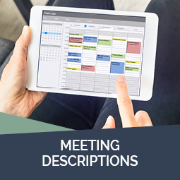 Meeting descriptions