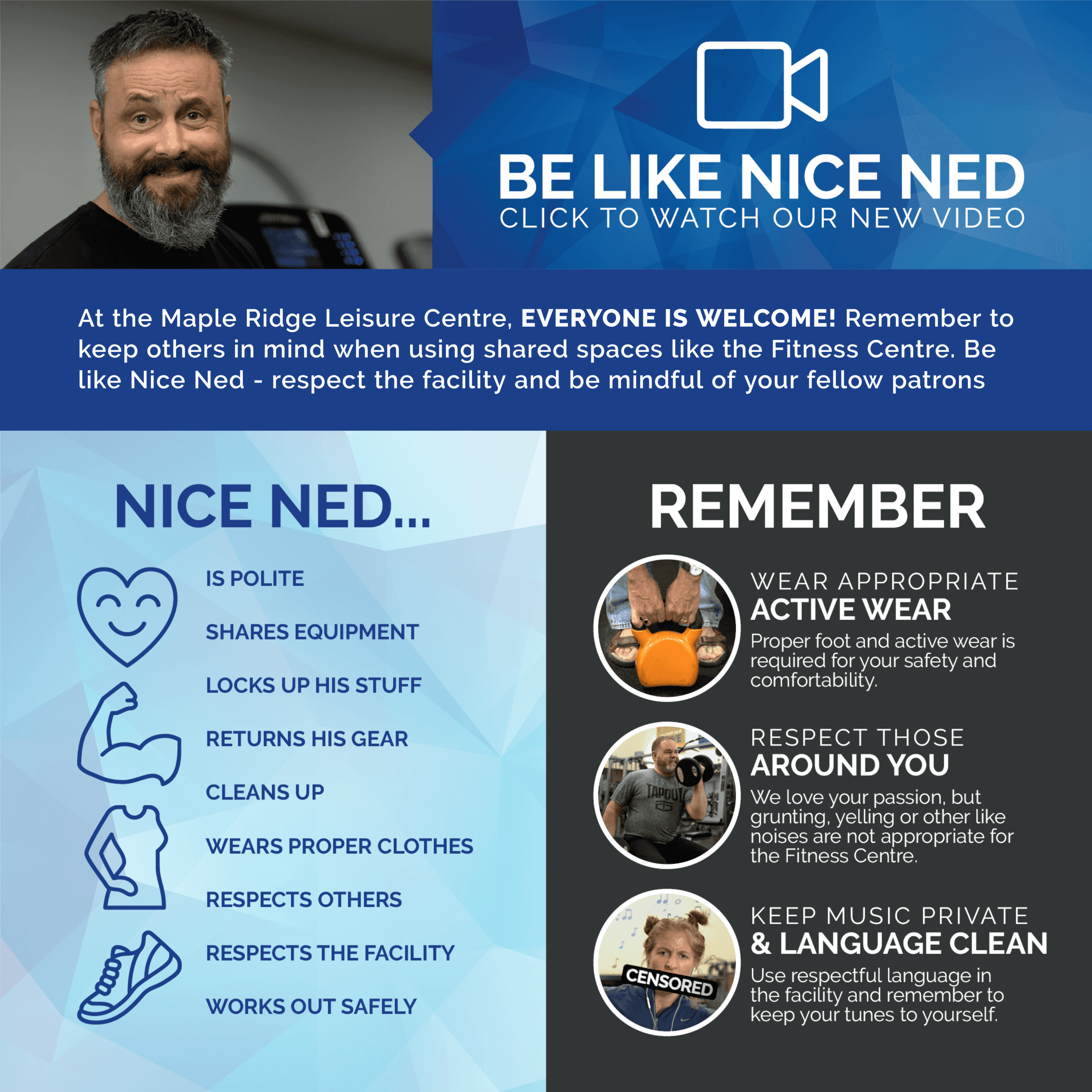 Be Like Nice Ned - Infographic