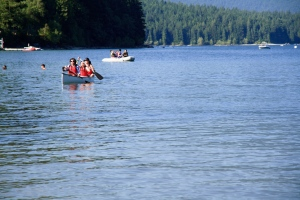 Canoeing at Alouette Lake