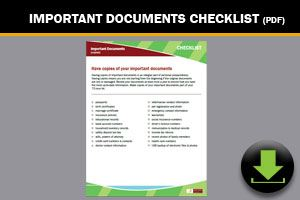 Download: Important Documents Checklist