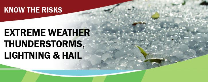 What to do during extreme thunder, lightning & hail storms