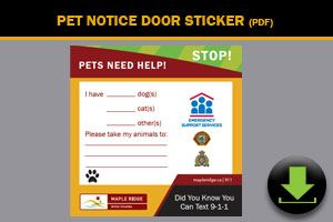 Pet Notice Door Sticker