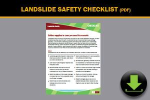 Landslide Safety Checklist