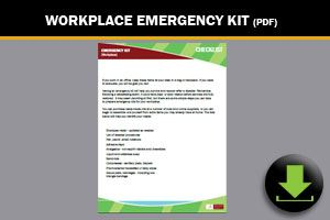 Workplace Emergency Kit