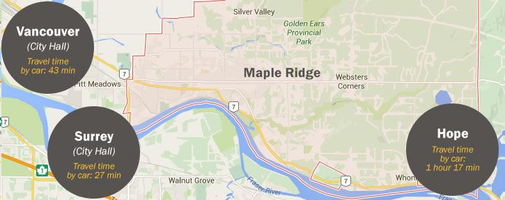 Maple Ridge Ideal Location and Infrastructure